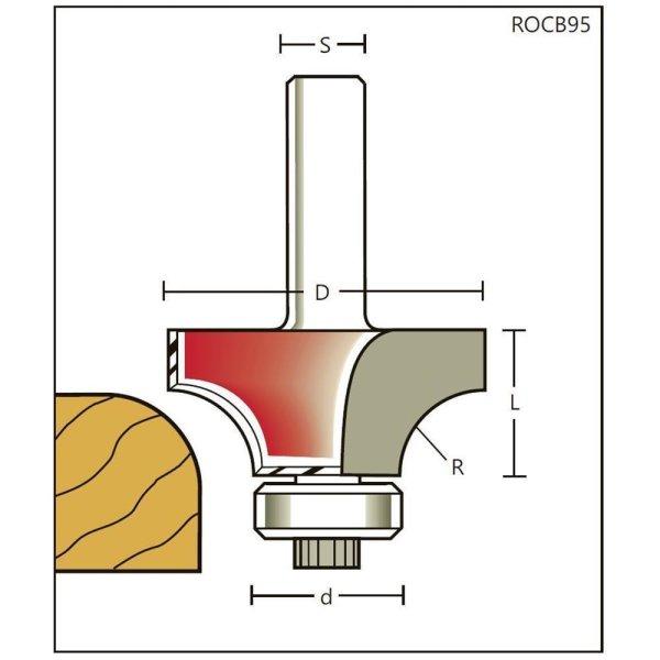 Abrundfräser HW Z=2 mit zylindrischen Schaft