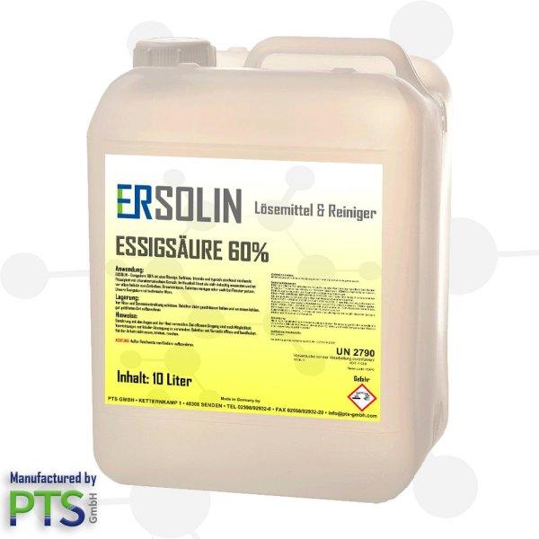 Essigsäure 60%   Entkalker   Ersolin   Essig   Reiniger   technisch   10 Liter