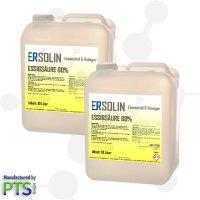 Essigsäure 60% | Entkalker | Ersolin | Essig | Reiniger | technisch | 2x 10 Liter