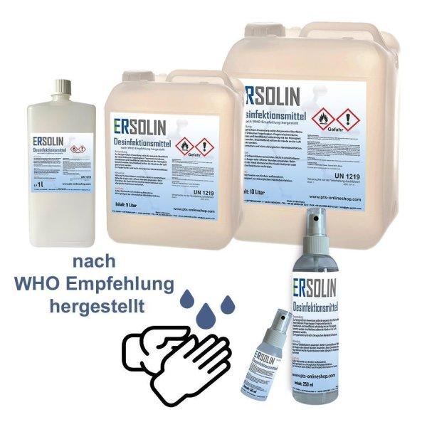 Ersolin Hände-Desinfektionsmittel   nach WHO Empfehlung