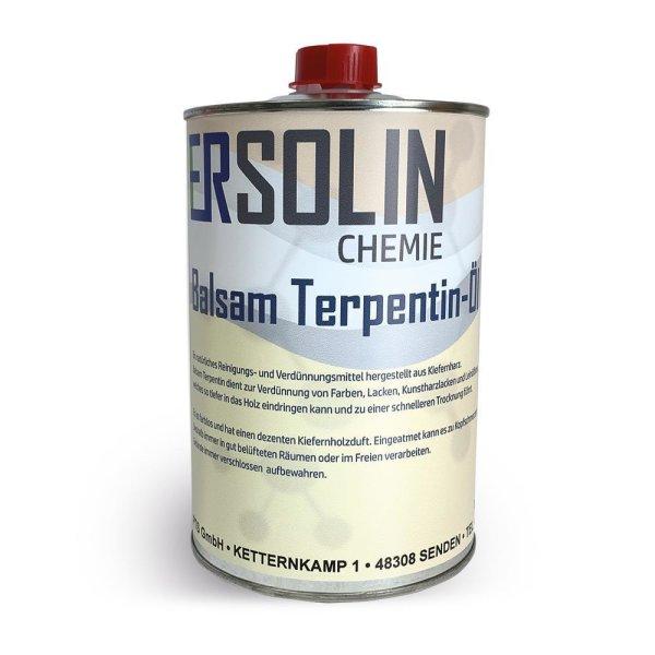 Ersolin Balsam Terpentin-Öl   Balsamterpetinöl   hergestellt aus Kiefernharz 1L Blechdose
