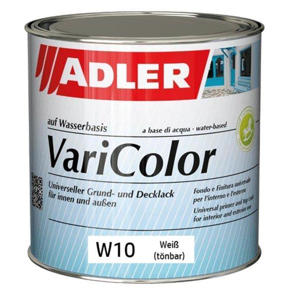 Adler Varicolor W10 | Universeller matter Grund- und Decklack | Weiß - tönbar