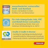 Adler Varicolor W20   Universeller matter Grund- und Decklack   Basis zum Tönen