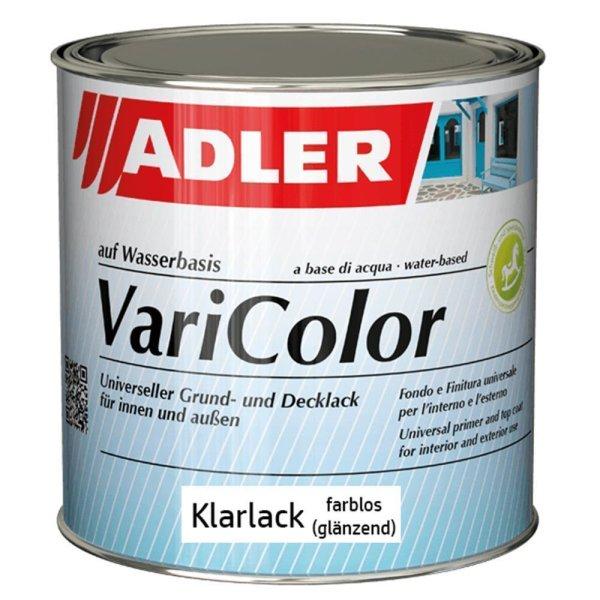 Adler Varicolor Klarlack Farblos glänzend  | Acryllack für Außen und Innen