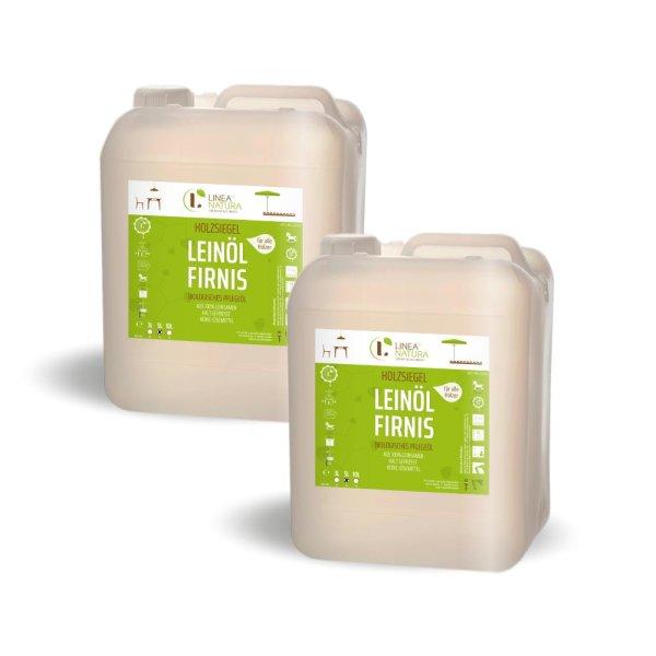 Linea Natura Leinöl-Firnis 2x5 Liter   10 Liter