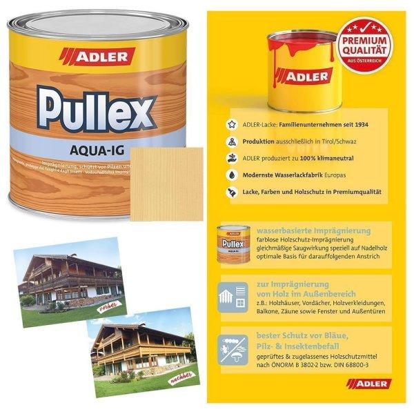 Adler Pullex Aqua IG   Holzschutz   Imprägnierung   Wasserbasierte Grundierung   farblos