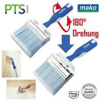 mako Premium Lack Flächenstreicher | Flächenpinsel ERGO 2K | Dreh-Kipp Grifffunktion | 100mm
