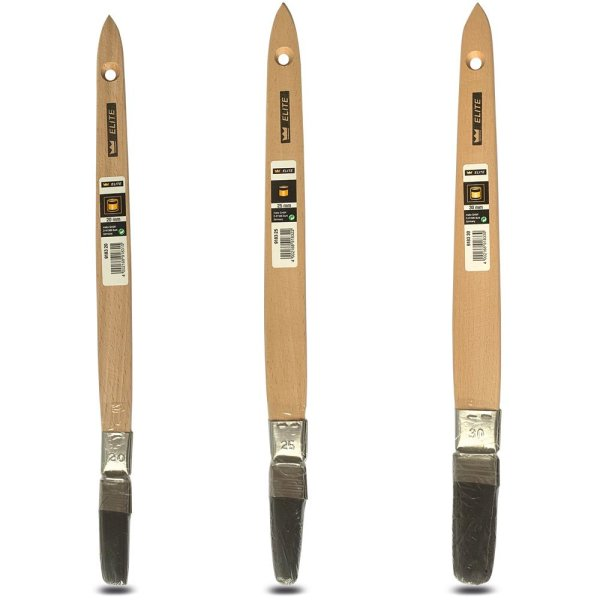 mako ELITE Lack Plattpinsel   Heizkörperpinsel   Lackpinsel gebogene Ausführung 20mm-30mm