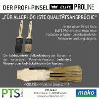 Mako Elite PROLINE Lasur Flachpinsel | Malerpinsel | Lasurpinsel | 35mm-70mm