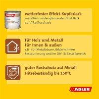 Adler Kupferlack   Effektlack   Speziallack   Rostschuz   Kupfer   Lack 375ml