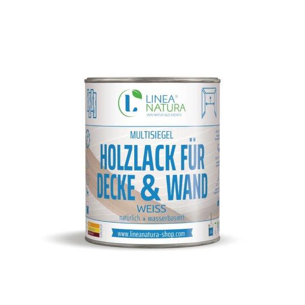 Multisiegel Holzlack für Decke und Wand 1 Liter - weiß