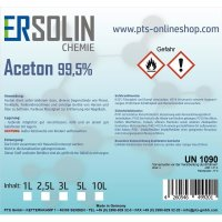 Aceton 99,5% Verdünnung Reiniger Entfetter Lackverdünner Lackentferner 2L | 2 x 1 Liter Dose