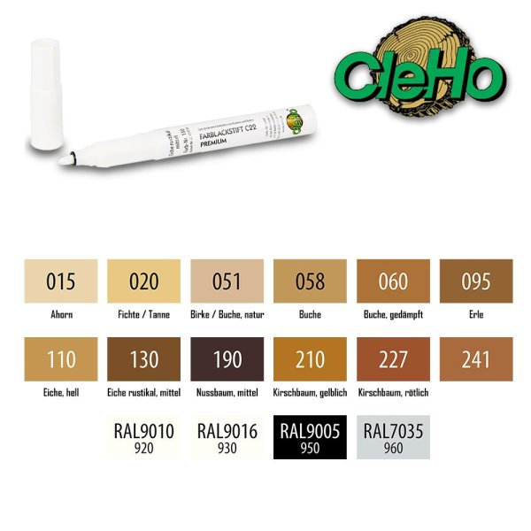 CleHo Farblackstift C22 Premium | diverse Farben