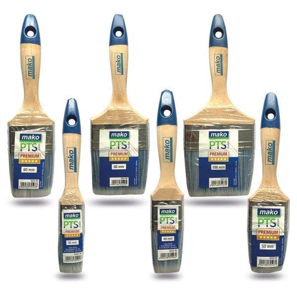 Stärke Lackpinsel Flachpinsel Lackier KOMFORT alle Lacke all in one-Borste 6