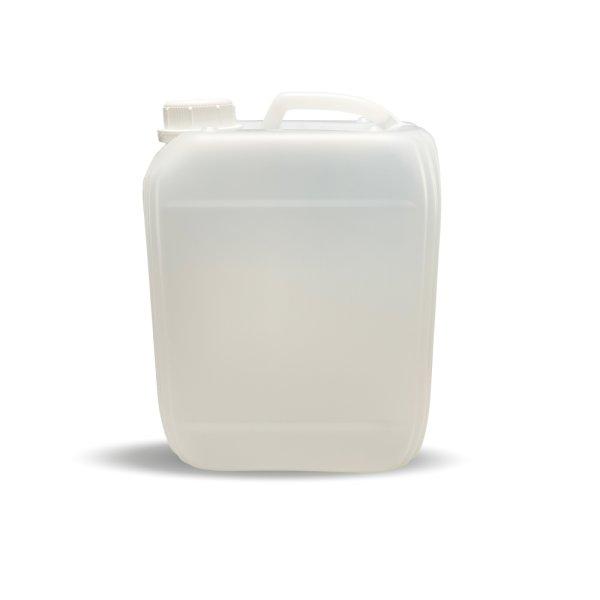 Kunststoff Kanister natur 10 Liter PE - Leer   inkl. Schraubverschluss 45mm, DIN 45 weiss