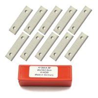 10 Stück Wendeschneidplatten HW/HM 40x12x1,5mm Z2