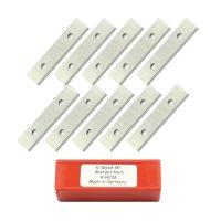 10 Stück Wendeschneidplatten HW/HM 50x12x1,5mm Z2