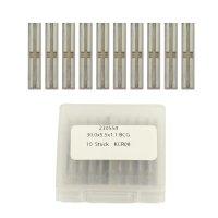 10 Stück Wendeschneidplatten HW/HM 30x5,5x1,1mm Z4 +...