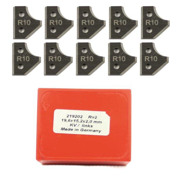 10 Stück Wendeschneidplatten HW/HM 19,6x15,2x2mm Z2 links