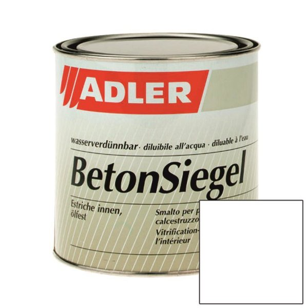 Beton-Siegel W10 Weiß Zementfarbe- Böden Versiegelung tönbar 2,5 l