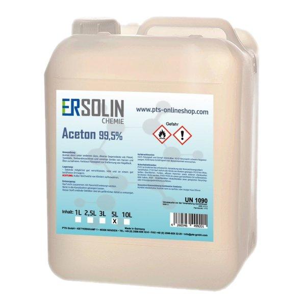 Aceton 99,5% (Reiniger, Entfetter Lösemittel, Lackentferner) 5 Liter Kanister