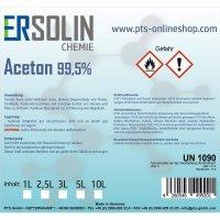 Aceton 99,5% (Reiniger, Entfetter Lösemittel, Lackentferner) 1 Liter Flasche