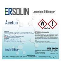 Aceton 99,5% (Reiniger, Entfetter Lösemittel, Lackentferner) 10 Liter Kanister