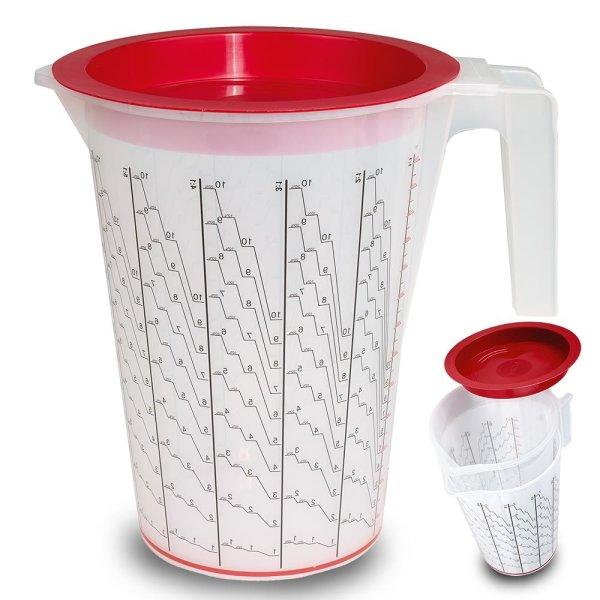 HSM Mischbechersystem ca. 6000 ml Gesamtvolumen oder Mischvolumen ca. 5000 ml - 100 Einsatzbecher + 1 Außenbehälter (ohne Deckel)